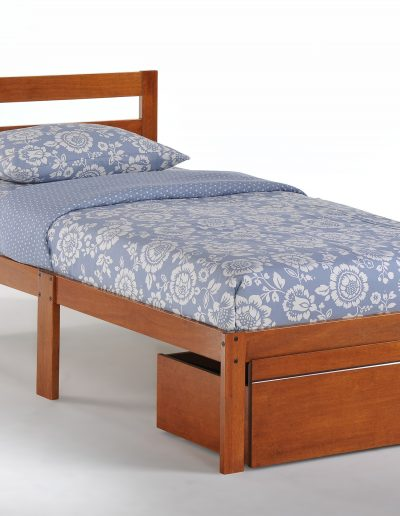 Bed-to-Go Twin Cherry w Drawer closed