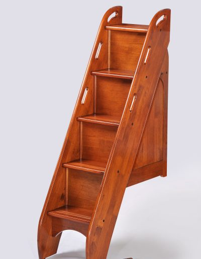 Bunk Bed Stairs w remove Wood Extension Cherry