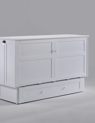 Clover Muphy Cabinet Bed White Closed