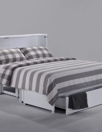 Clover Muphy Cabinet Bed White Open