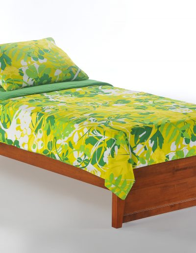 P-Series Basic Bed Twin Cherry w Panels