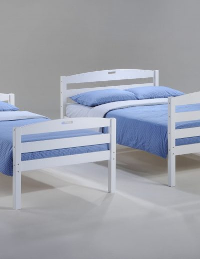 Sesame Twin Full Bunk White w a Twin & Full Bed