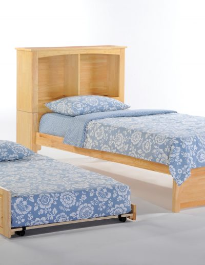 Vanilla Bed Twin Natural w Trundle opened