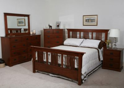 bedworks of maine - lucerne bedroom scene