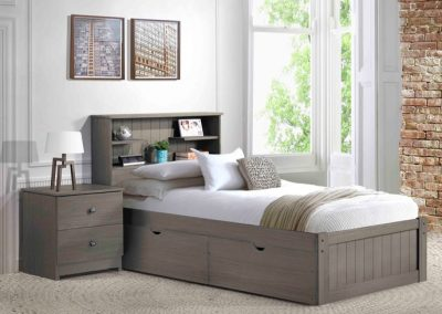 innovations newport grey bookcase bed