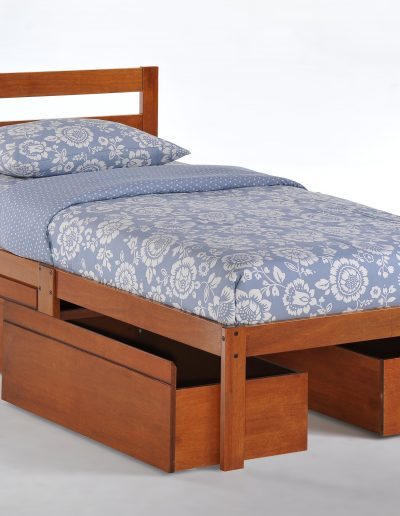 Bed-to-Go Twin Cherry w Drawers