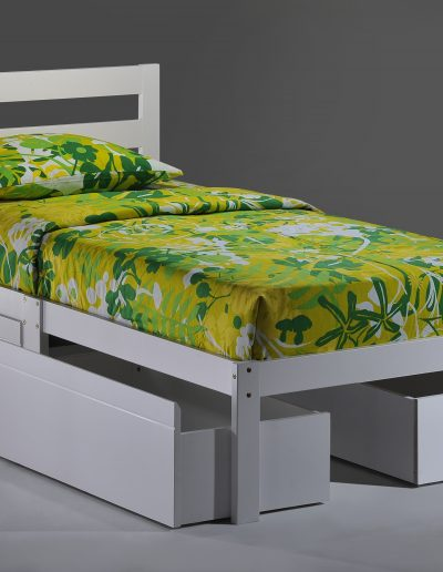 Bed-to-Go Twin White w Drawers