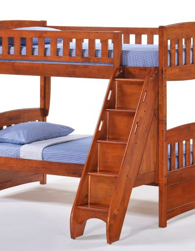 Bunk Bed Stairs w Cinnamon Twn Twn Bunk Cherry