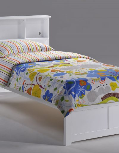 Butterscotch Bed Twin White