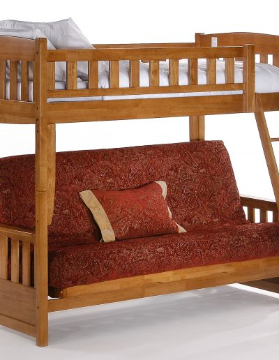 Cinnamon Futon Bunk Medium Oak