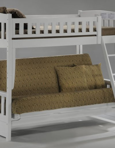 Cinnamon Futon Bunk White