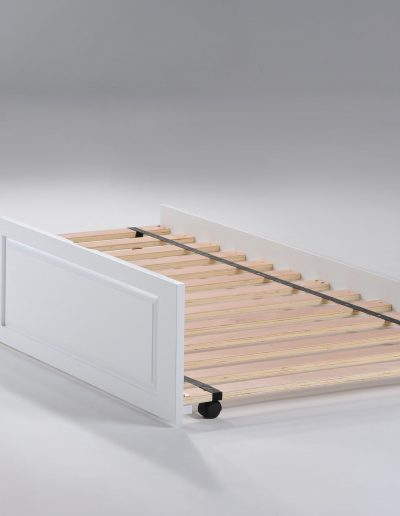 Cinnamon Trundle Bed White
