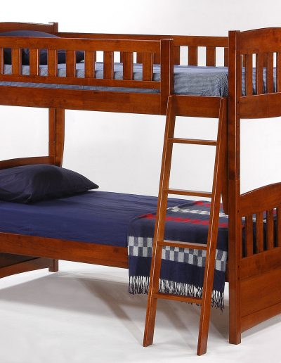 Cinnamon Twin Twin Bunk Cherry
