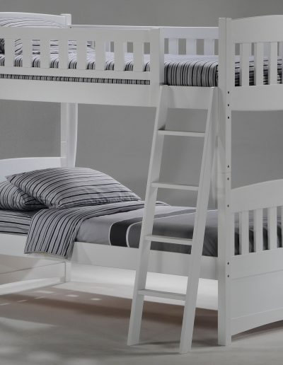 Cinnamon Twin Twin Bunk White