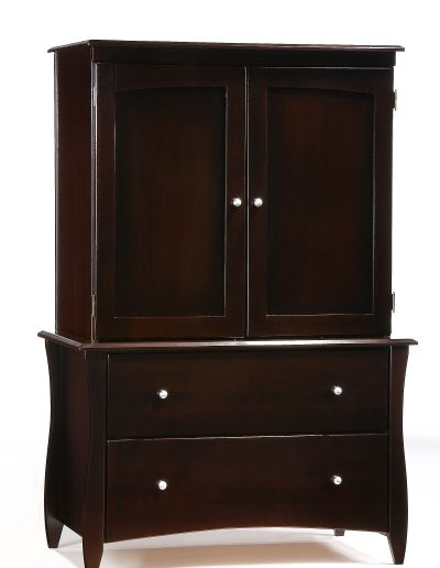 Clove Armoire Dark Chocolate w Top Unit closed
