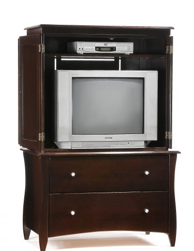Clove Armoire Dark Chocolate w Top Unit open