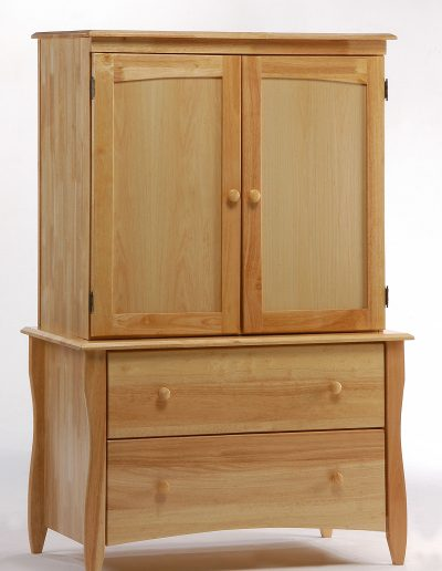 Clove Armoire Natural w Top Unit closed