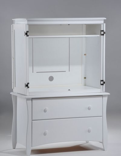 Clove Armoire White w Door open