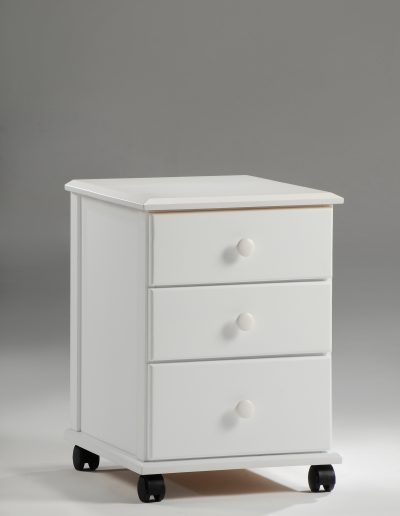 Clove Mobile Unit White (Wood Knobs)