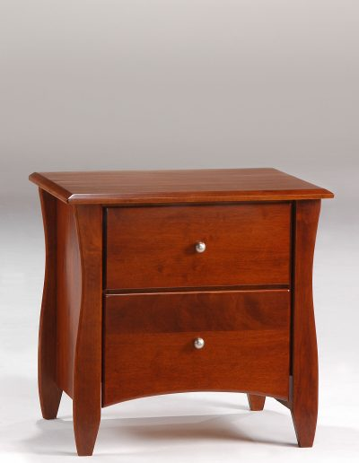 Clove Nightstand Cherry (Metal Knobs)