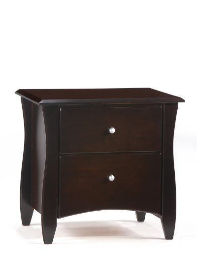 Clove Nightstand Dark Chocolate (Metal Knobs)