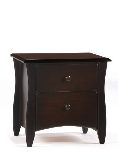 Clove Nightstand Dark Chocolate (Wood Knobs)