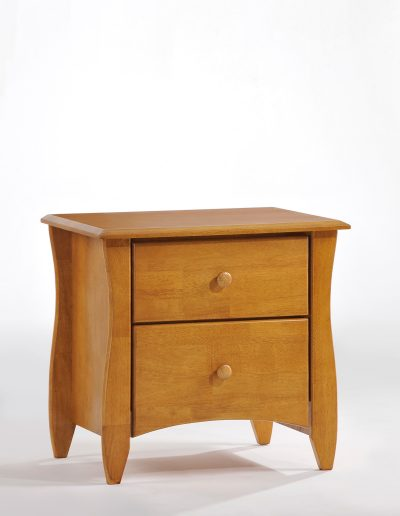 Clove Nightstand Medium Oak (Wood Knobs)