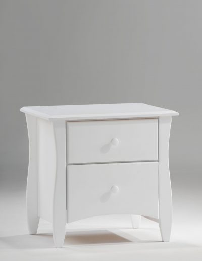 Clove Nightstand White (Wood Knbos)