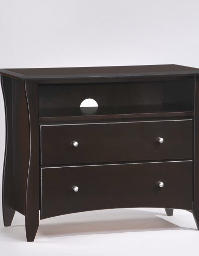 Clove TV Stand Dark Chocolate (Metal Knobs)