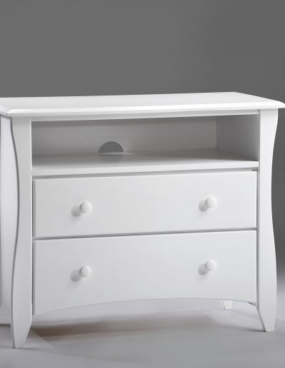 Clove TV Stand White (Wood Knobs)