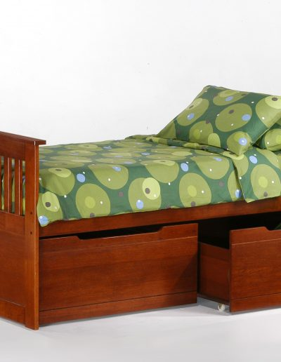 Ginger Captains Bed Twin Cherry w Drawer opened