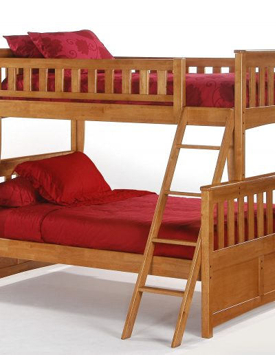 Ginger Twin Full Bunk Medium Oak
