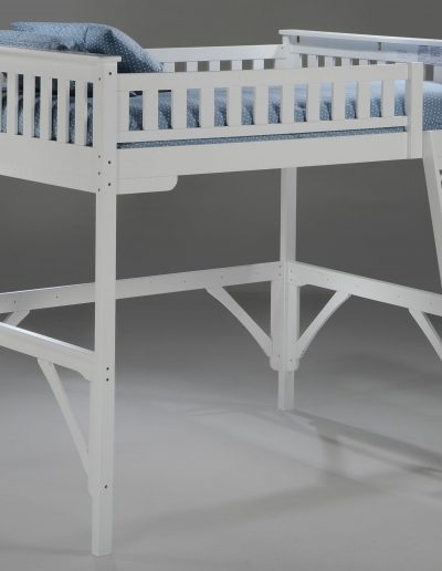 Ginger Twin Loft Bunk White