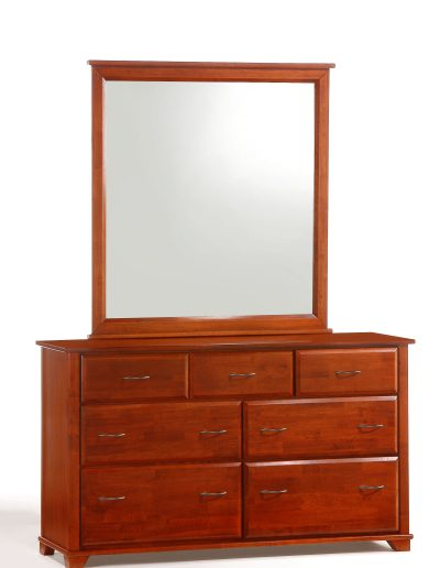 Juniper 7 Drawer Dresser & Mirror Cherry