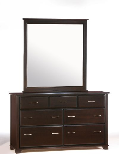 Juniper 7 Drawer Dresser & Mirror Dark Chocolate