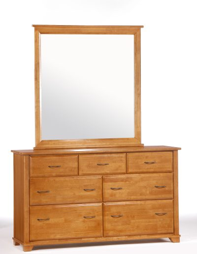 Juniper 7 Drawer Dresser & Mirror Medium Oak