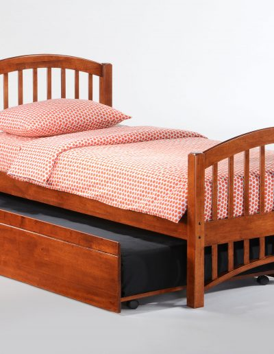 Molasses Bed Twin Cherry w Trundle opened