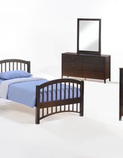 Molasses Youth Bed Suite Dark Chocolate