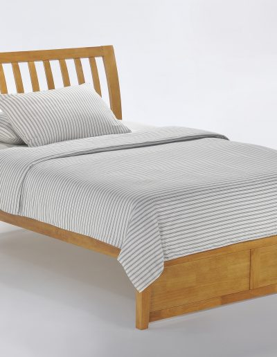 Nutmeg Bed Full Medium Oak (2)