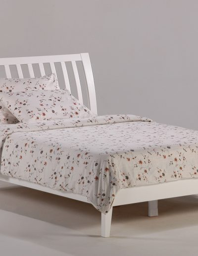 Nutmeg Bed Full White