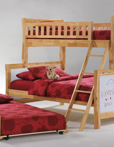 Scribbles Twin Full Natural with Trundle Bed opened