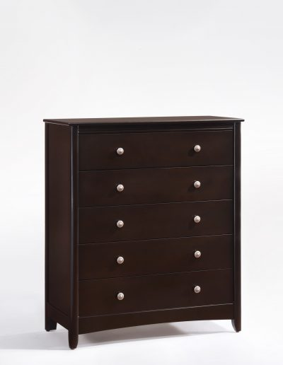 Secrets 5 Drawer Chest Dark Chocolate