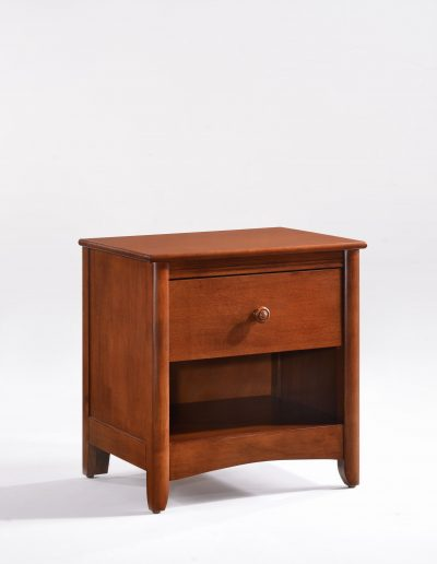 Secrets Nightstand Cherry Wood Knobs