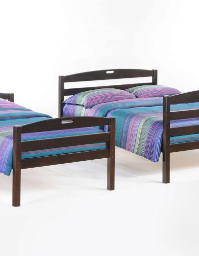 Sesame Twin Full Bunk Dark Chocolate w a Twin & Full Bed