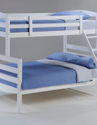 Sesame Twin Full Bunk White