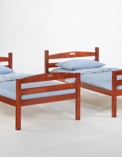 Sesame Twin Twin Bunk Cherry w 2 Twin Bed