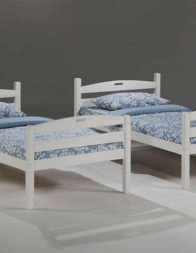 Sesame Twin Twin Bunk White w 2 Twin Bed